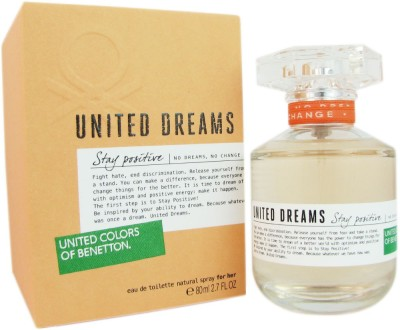 benetton United Dreams Stay Positive Eau de Toilette  -  80 ml