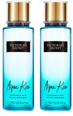 Victorias Secret New Aqua Kiss Fragrance Mist-2 pack Eau de Parfum - 500 ml(For Girls, Women)