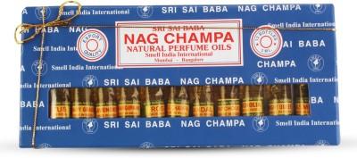 Smell India International Nag Champa Perfume Oil Pack Of 12 Eau de Parfum  -  120 ml