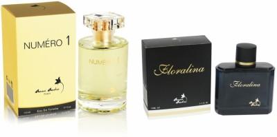 Anna Andre, Paris Floralina 100ml & Numero 1 Perfume 110ml Eau de Toilette  -  210 ml