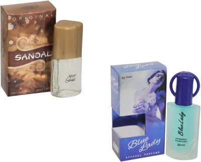 My Tunes Combo Pack Blue lady 30 Ml & Sandal- 20 ml Eau de Parfum  -  50 ml