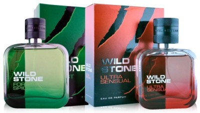 Wild Stone Forest Spice & Ultra Sensual Pack Of 2 Eau de Parfum - 200 ml(For Men, Boys)
