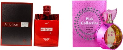 Ramco Ambition and Pink Collection Combo Eau de Parfum  -  200 ml