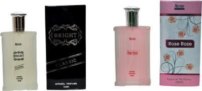 Aone Gold Bright Classic and Rose Roze Combo Eau de Parfum  -  200 ml