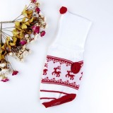 Magideal Sweater for Dog (White, Red)