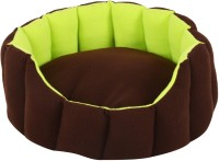 Fluffy FPWPBW14C L Pet Bed(Brown, Fluorescent Green)