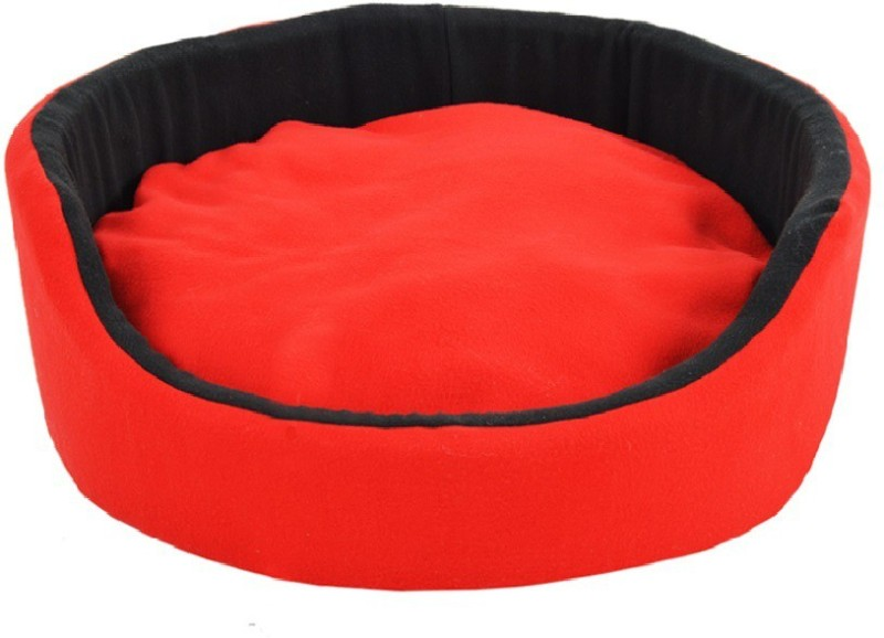 Fluffy FPWFRBL2 L Pet Bed(Black, Red)