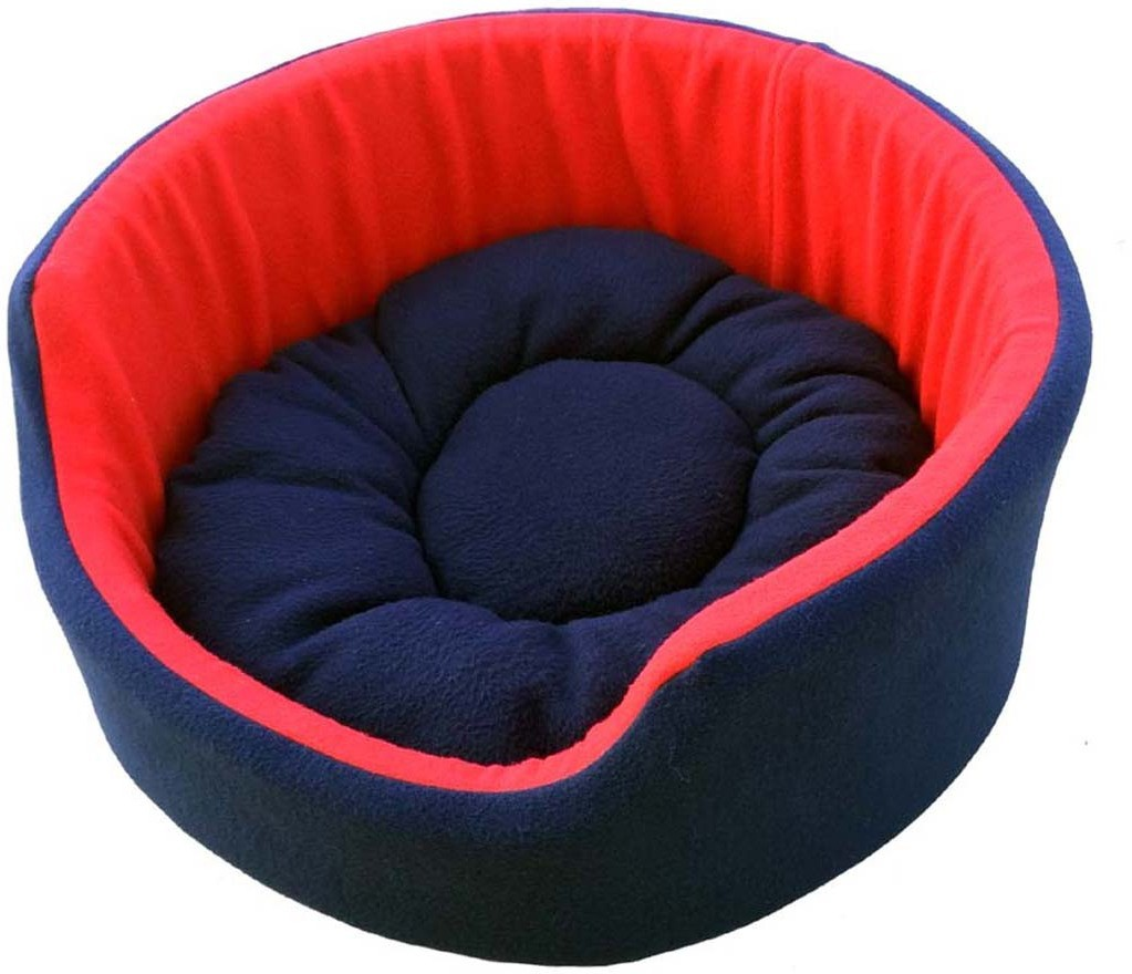 View Fluffy FPWFBS3 L Pet Bed(Red, Blue) Furniture (Fluffy)