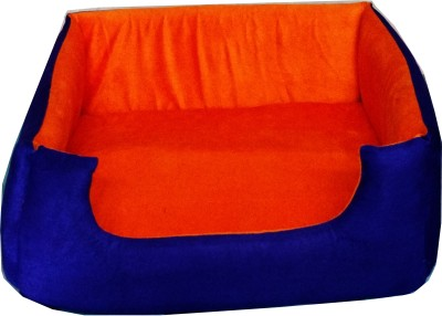 Petshop7 Ps7Bed.Blue&Orange.L L Pet Bed(Blue, Orange)