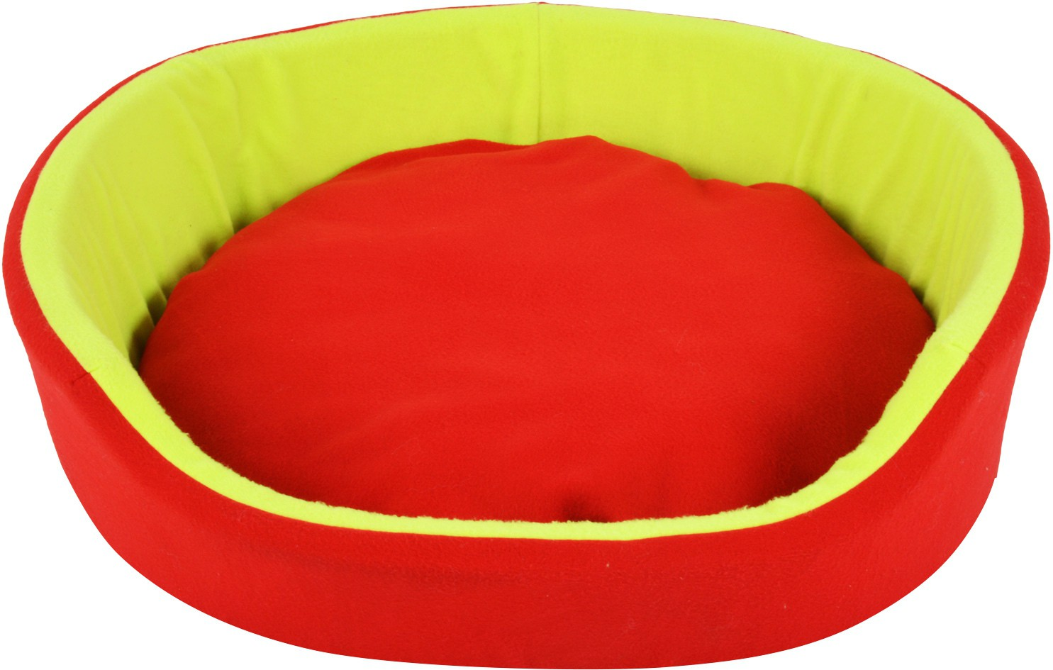 View Fluffy FPWFRBXL3 XL Pet Bed(Red, Green) Furniture (Fluffy)