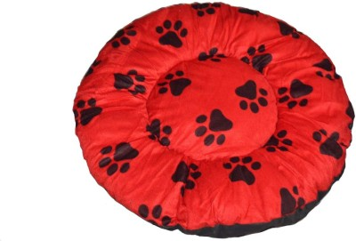 Bow! Wow!! ROUNDREDLALBIG L Pet Bed