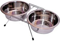 Pet Club51 Round Stainless Steel Pet Bowl(450 ml Silver)