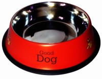 Pet Club51 Round Stainless Steel Pet Bowl(0.46 L Red)