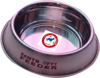 PET CLUB51 ANTS OFF FEEDER Round Stainless Steel Pet Bowl
