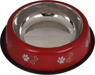 TommyChew Simple Round Steel Pet Bowl