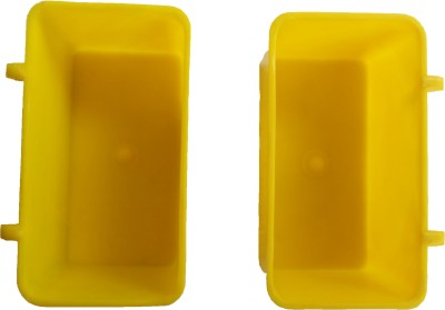 Taiyo Rectangle Plastic Pet Bowl(400 ml Yellow)