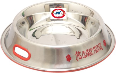 Pet Club51 The Classic feeder 600ml Round Stainless Steel Pet Bowl