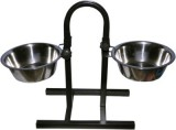 Pet Club51 Round Stainless Steel Pet Bow...