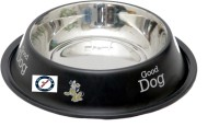 Pethub Small food bowl Round Stainless Steel Pet Bowl(460 ml Black)