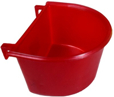 Pawzone Round Plastic Pet Bowl(3.5 ml Red)