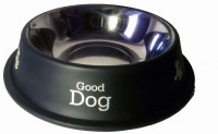 Pet Club51 Round Stainless Steel Pet Bowl(0.46 L Black)