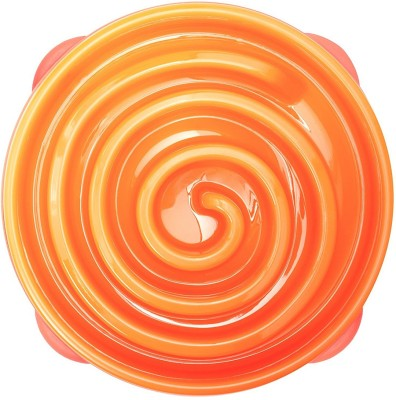 Outward Hound Round Plastic Pet Bowl(500 ml Orange)