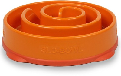 Outward Hound Fun Feeder Orange Round Plastic Pet Bowl(250 ml Orange)
