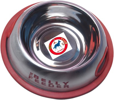 PET CLUB51 BELLY FEEDER Round Stainless Steel Pet Bowl