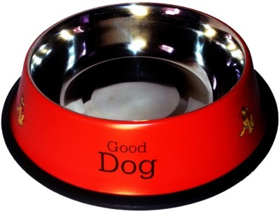 Petshop7 Red Large 1600 Ml Stainless Steel Pet Bowl(1600 ml Red)