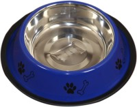 Pethub Medium food bowl Round Stainless Steel Pet Bowl(920 ml Blue)