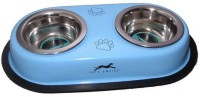 Pet Club51 Round Stainless Steel Pet Bowl(450 ml Blue)