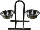 Waves Round Stainless Steel Pet Bowl (2 ...