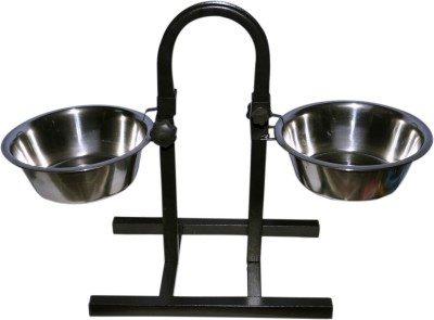 Waves Round Stainless Steel Pet Bowl