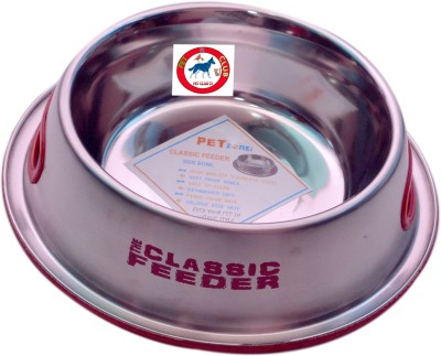 PET CLUB51 CLASSIC FEEDER R Round Stainless Steel Pet Bowl