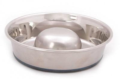 PetsFriendly Round Steel Pet Bowl(750 ml Steel)