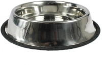 Goofy Tails Round Stainless Steel Pet Bowl(1 ml Grey)