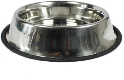 Goofy Tails Round Stainless Steel Pet Bowl