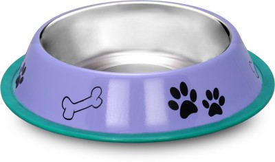 Happy Pets Round Stainless Steel Pet Bowl