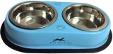 Pawzone Round Stainless Steel Pet Bowl (...