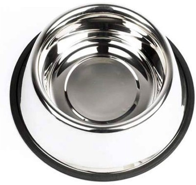 Smarty Pet Plain Round Stainless Steel Pet Bowl