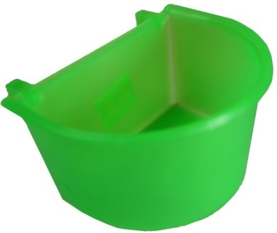 Pawzone Round Plastic Pet Bowl(3.5 ml Green)