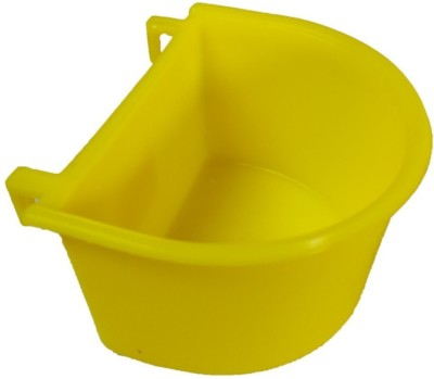 Pawzone Round Plastic Pet Bowl(3.5 ml Yellow)