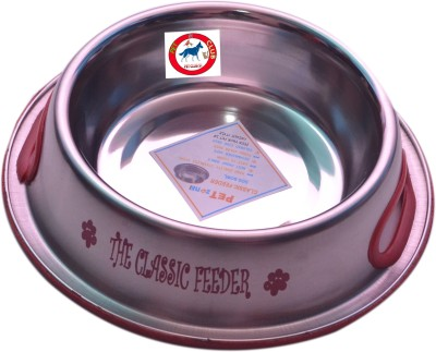 PET CLUB51 CLASSIC FEEDER Round Stainless Steel Pet Bowl
