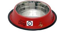 Pethub Medium food bowl Round Stainless Steel Pet Bowl(920 ml Red)