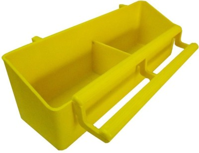 Pawzone Rectangle Plastic Pet Bowl(3.5 ml Yellow)
