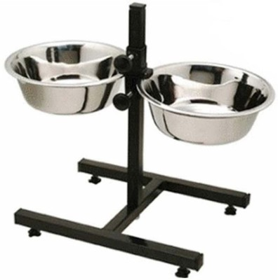 Smarty Pet H Stand Round Stainless Steel Pet Bowl