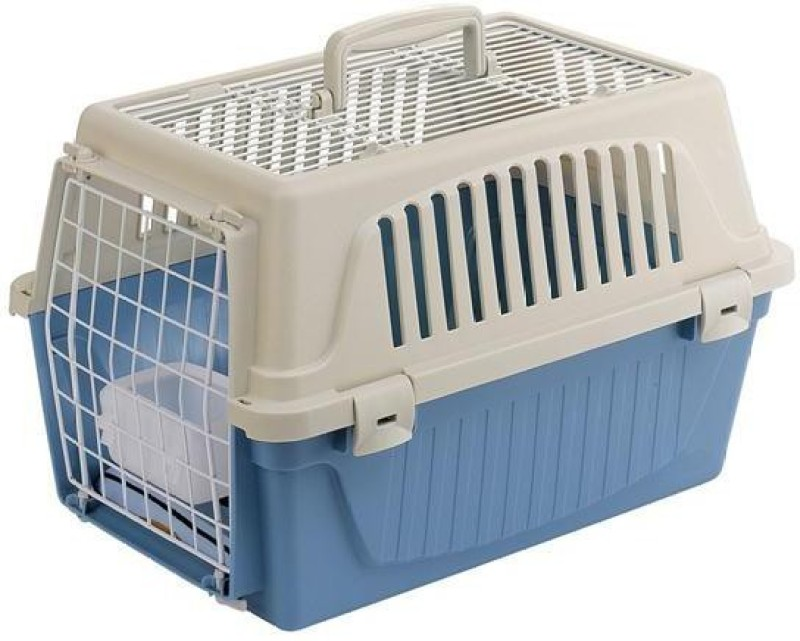 Ferplast Atlas 20 Open Top Small White, Blue Airline Pet Carrier(Suitable For Cat, Dog)