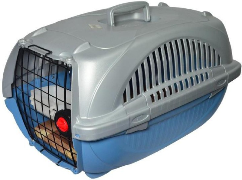 Ferplast Atlas Deluxe 20 Closed Silver, Blue Airline Pet Carrier(Suitable For Cat, Dog)