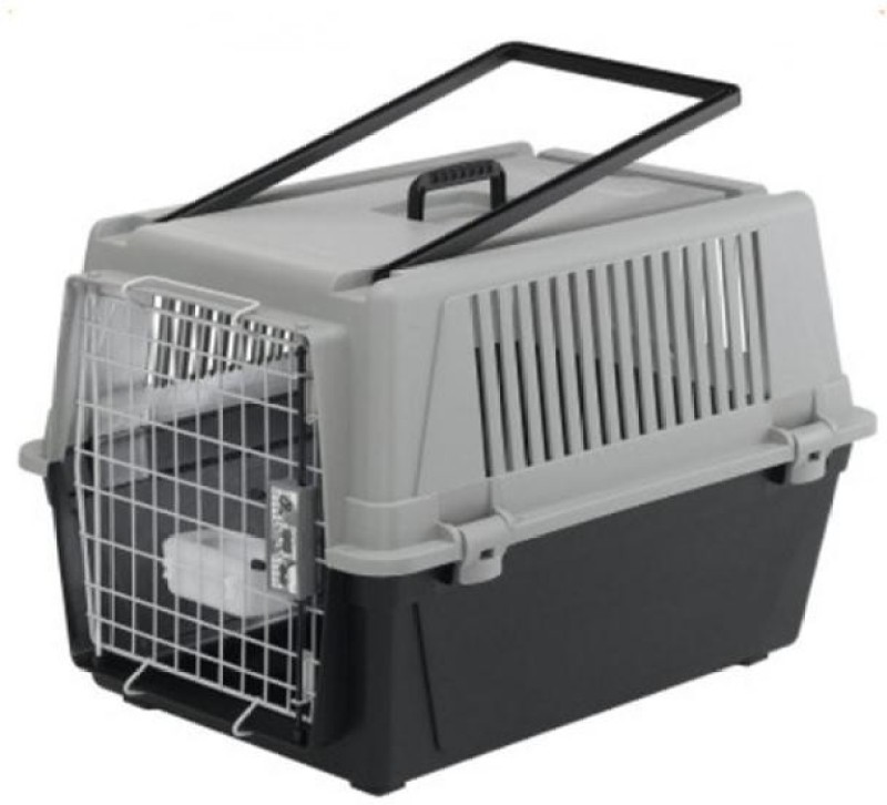 Ferplast Atlas 40 Travel Cage Grey, Black Car Pet Carrier(Suitable For Cat, Dog)
