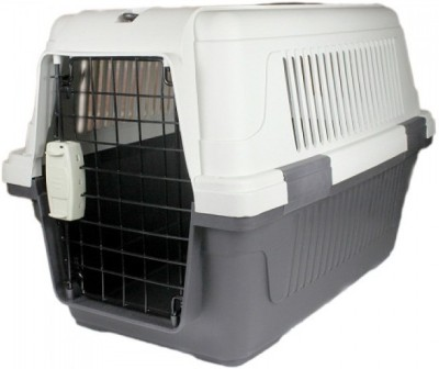 Goofy Tails Fibre Flight Puppy Cage (Medium) White, Grey Airline Pet Carrier(Suitable For Dog)